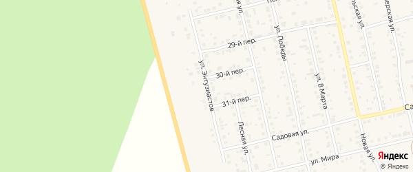 Улица Энтузиастов на карте села Еткуль с номерами домов