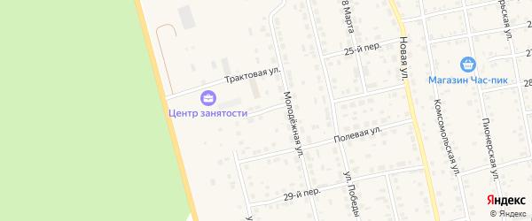 Трактовая улица на карте села Еткуль с номерами домов