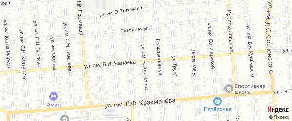 Улица им В.И.Чапаева на карте Троицка с номерами домов