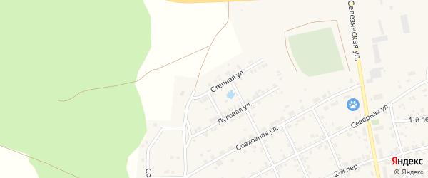 Степная улица на карте села Еткуль с номерами домов