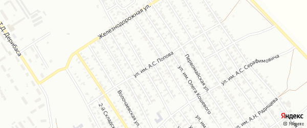 Улица им А.С.Попова на карте Троицка с номерами домов