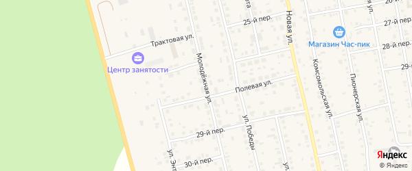 Молодежная улица на карте села Еткуль с номерами домов