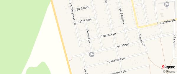 Лесная улица на карте села Еткуль с номерами домов