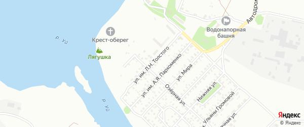 Улица им Л.Н.Толстого на карте Троицка с номерами домов
