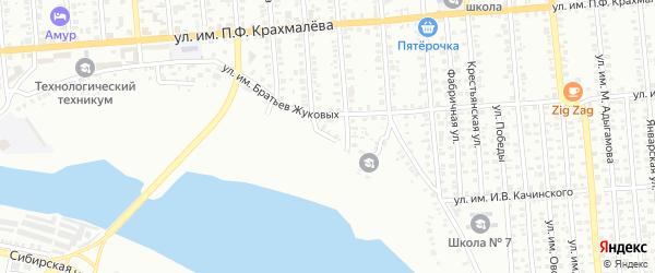 Набережная улица на карте Троицка с номерами домов