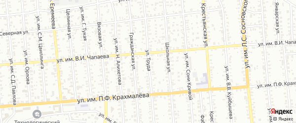 Улица Труда на карте Троицка с номерами домов