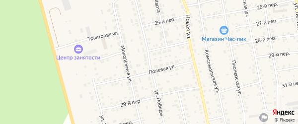 Улица Победы на карте села Еткуль с номерами домов