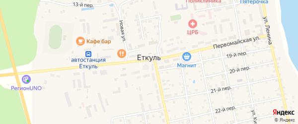 5-й переулок на карте села Еткуль с номерами домов