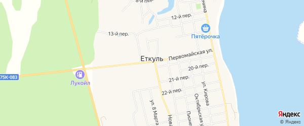 СТ Нефтяник на карте села Еткуль с номерами домов