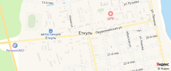 Улица Гончарка на карте села Еткуль с номерами домов