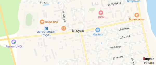 22-й переулок на карте села Еткуль с номерами домов