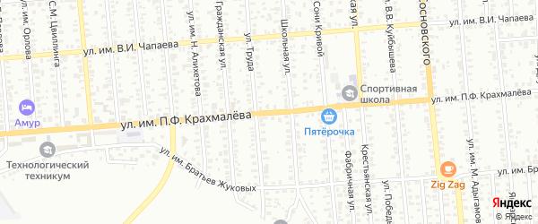 Улица им П.Ф.Крахмалева на карте Троицка с номерами домов