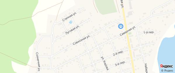 Совхозная улица на карте села Еткуль с номерами домов