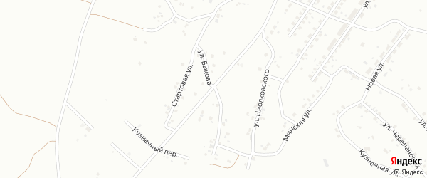 Улица Быкова на карте Копейска с номерами домов