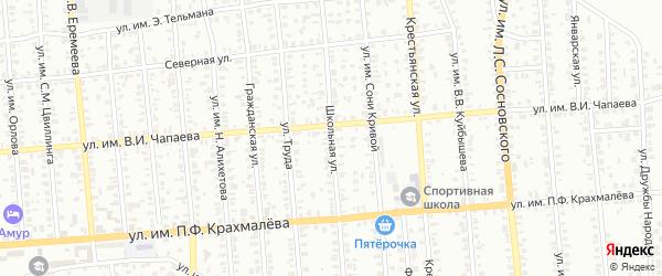 Школьная улица на карте Троицка с номерами домов