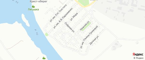 Озерная улица на карте Троицка с номерами домов