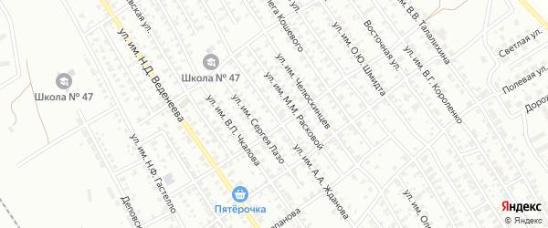 Улица им А.А.Жданова на карте Троицка с номерами домов