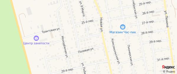 Улица 8 Марта на карте села Еткуль с номерами домов