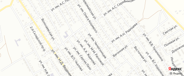 Улица им Челюскинцев на карте Троицка с номерами домов