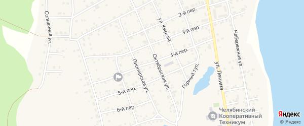 4-й переулок на карте села Еткуль с номерами домов