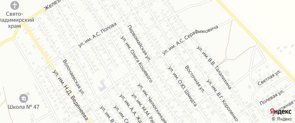 Улица им А.С.Серафимовича на карте Троицка с номерами домов