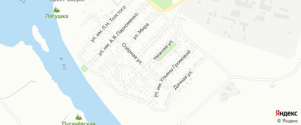 Нижняя улица на карте Троицка с номерами домов