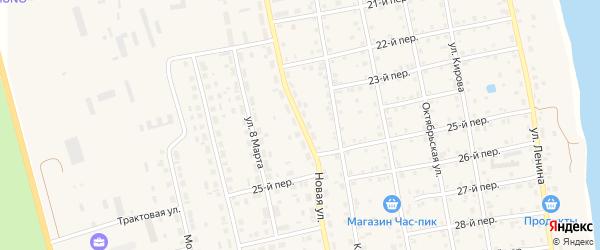 Новая улица на карте села Еткуль с номерами домов