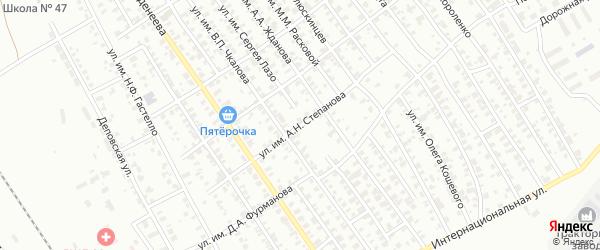 Улица им А.К.Степанова на карте Троицка с номерами домов