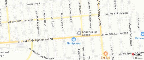 Улица им Сони Кривой на карте Троицка с номерами домов