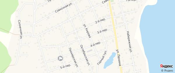 3-й переулок на карте села Еткуль с номерами домов