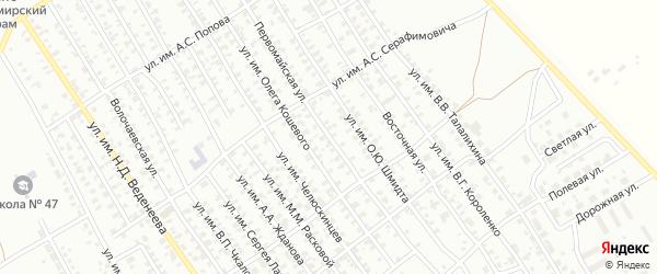 Первомайская улица на карте Троицка с номерами домов