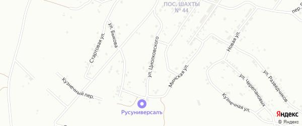 Улица Циолковского на карте Копейска с номерами домов