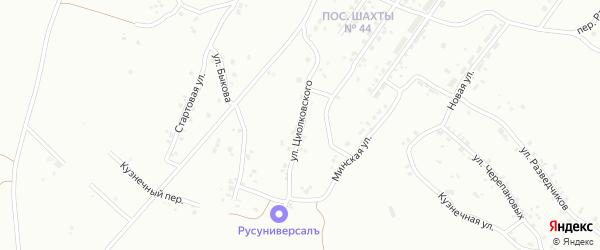 Улица Циолковского на карте Челябинска с номерами домов