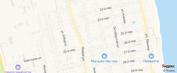 Комсомольская улица на карте села Еткуль с номерами домов