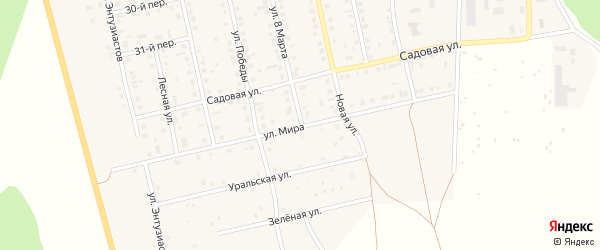 Улица Мира на карте села Еткуль с номерами домов