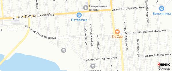 Фабричная улица на карте Троицка с номерами домов