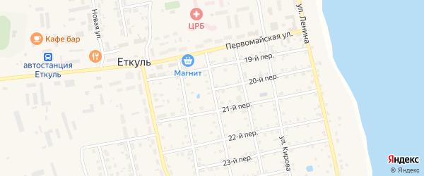 Пионерская улица на карте села Еткуль с номерами домов