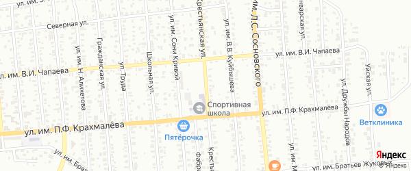 Крестьянская улица на карте Троицка с номерами домов