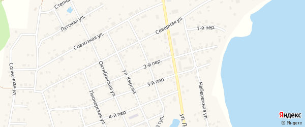 2-й переулок на карте села Еткуль с номерами домов
