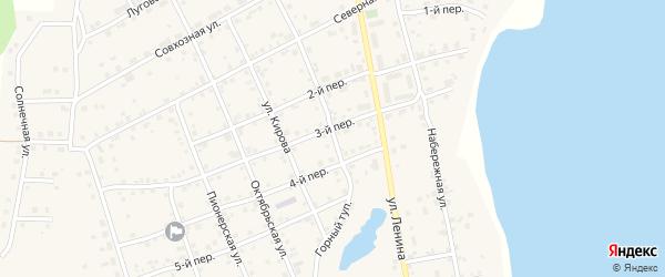 Улица Горный тупик на карте села Еткуль с номерами домов