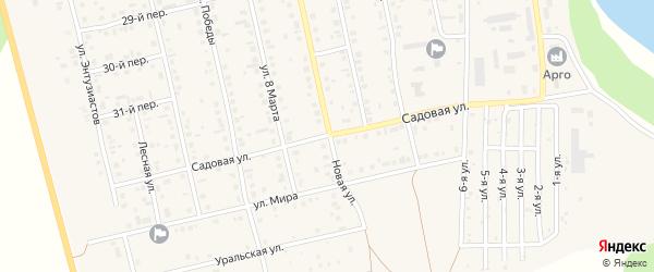 Садовая улица на карте села Еткуль с номерами домов