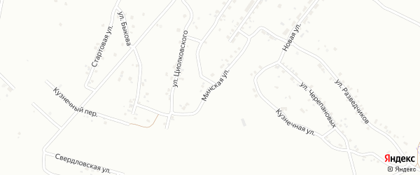 Минская улица на карте Копейска с номерами домов