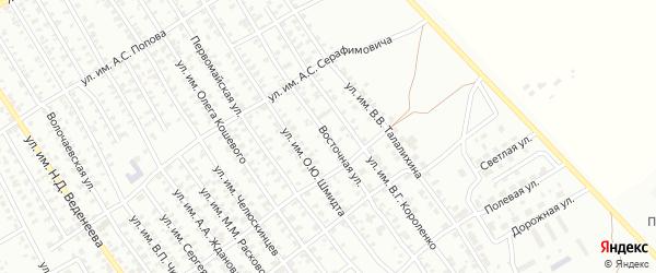 Восточная улица на карте Троицка с номерами домов
