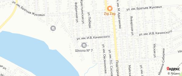 Улица Победы на карте Троицка с номерами домов