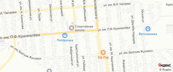 Улица им В.В.Куйбышева на карте Троицка с номерами домов