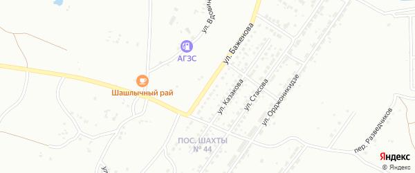 Улица Баженова на карте Копейска с номерами домов