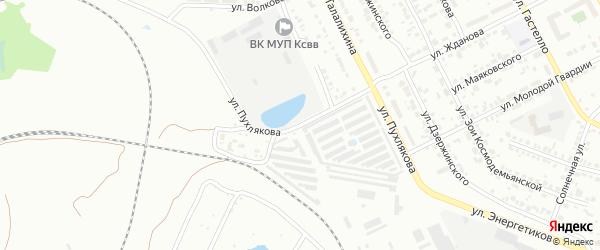 Улица Пухлякова на карте Копейска с номерами домов