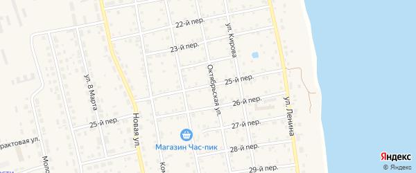 25-й переулок на карте села Еткуль с номерами домов