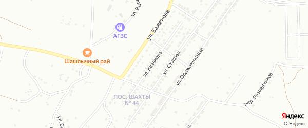 Улица Казакова на карте Копейска с номерами домов