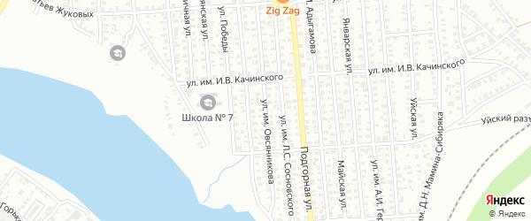 Улица им Овсянникова на карте Троицка с номерами домов